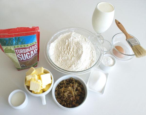 raisin-scones-ingredients