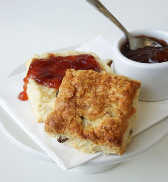 raisin-scones-jammed