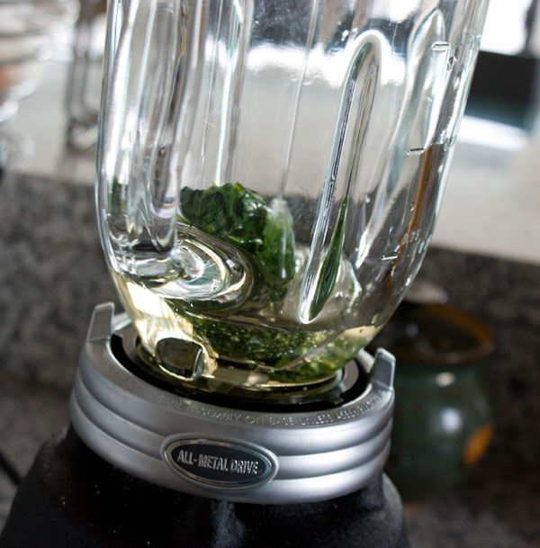 mint-syrup-in-blender