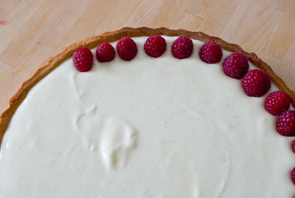 White chocolate raspberry tart and how I pissed off the whole town