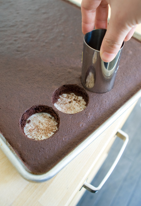 Cut a cake circle with each ring mold, regardless of which size you ...